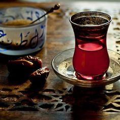 small beautiful tea glass