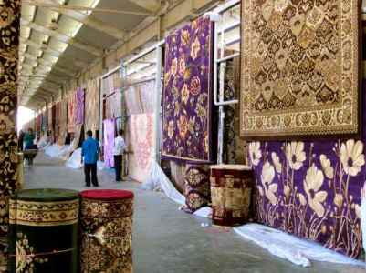 Beautiful rugs & carpets sold in Friday Market