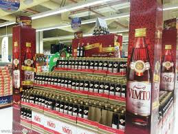 This is the pile of Vimto drink sold in Sultan Center in preparation of Ramadan