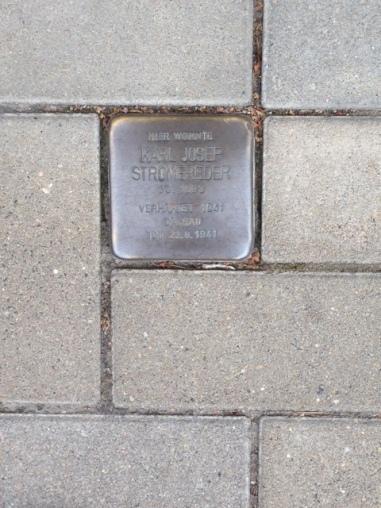 Stolspersteine of Karl Josef Stromereder