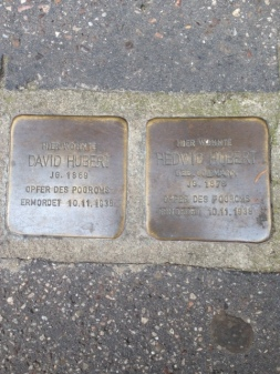Stolpersteine of David Hubert & Hedwig Hubert-Griesmültrasse 6
