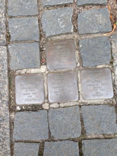 Stolpersteine of Sophia Loewenfels,Frieda Loewenfels,Siegfried Loewenfels & Philip Loewenfels