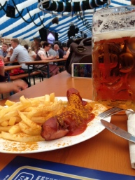 Currywurst, Pommes and Beer