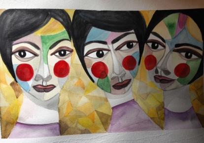 Three Ladies ( 29.7 cm X 42 cm )