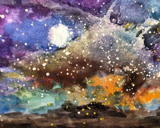 Galaxy Sky Art (21 cm X 29.7cm)