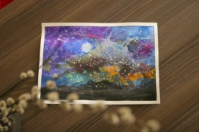 Galaxy Sky Art ( 21cm X 29.7cm)