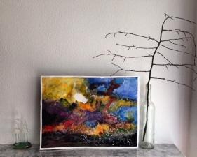 Galaxy Sky Original Art ( 36cm X 48cm)