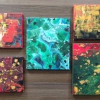 Fluid painting : Malachite hues