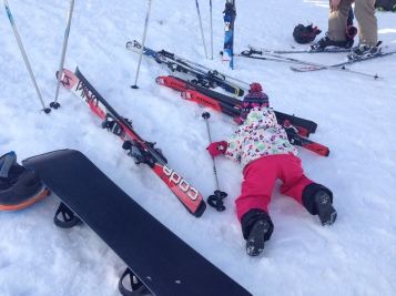 This is how she learned to Ski!